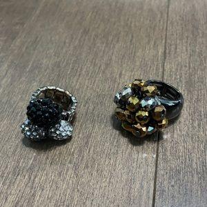 Adjustable costume jewelry rings